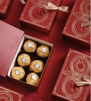 설탕 상자 마술 책 패턴 사탕 상자 결혼식을위한 선물 랩 생일 파티 축제 포장 케이스 절묘한 연기 설탕 케이스 손으로 WMQ381