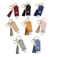 30ML Hand Sanitizer Bottle Cover PU Leather Tassel Holder Ke...