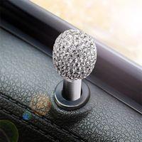 1 pcs decoração de cristal bloqueio de liga kits kits Covers Universal apt acessórios de carro moda interior preto wh qylqzn