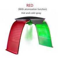 Sıcak ve soğuk sprey fonksiyonu ile yeni 7 renk PDT LED ışık tedavisi makinesi