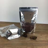 Mylar Stand up Feuille d'aluminium Clear Forfait Clear Pack Sac pour alimentation Café Stockage Sac d'emballage Zip refermable Livraison gratuite