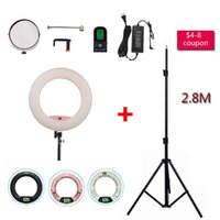 Pink LED FE-480II Studio 5600K Lighting Dimmable +Tripod Light Light Yidoblo Video Camera Lamp LCD display Photographic 480 Ring Pvrrb