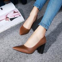 Elbise Ayakkabıları 2021 Kadın Pompaları PU Deri Tüm Maç Sivri Toe Moda PlatformSlip Casual Düğün Boyutu 34-43 WER45