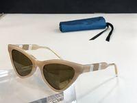 novos venda 0597S óculos escuros de grife populares para placa mulheres triângulo full frame qualidade superior 0597 da forma da senhora lente uv400 generoso estilo