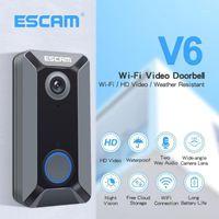 Téléphones de porte vidéo Escam V6 WiFi Doorbell 720p Sans fil HD Interphone Caméra Deux-Bidouillage Audio Gratui Cloud Stockage pour la sécurité domestique1