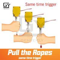 Systèmes d'alarme Rope Switch ProP Escape Room Jeu Simultanée Version Tirez toutes les cordes en même temps pour déverrouiller le Puzzle Véritable Gende