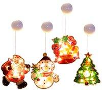 Noel dekorasyon fener led dükkan pencere vantuz asılı lambalar pencere çıkartmaları noel süsler tatil atmosferi ışık vtky2072