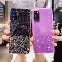 Samsung S20 FE Davası için üzerinde Etui Samsung Galaxy S20 Lite Ultra Plus S20FE Fan Edition, Vaka Glitter Yıldız Silikon Kapak