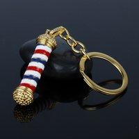 Drip Oil Barber Key Buckle Turn Lamp Keychains Barber Shop Pendant Keys Ring Holder Car Bag Accessories 3 3aj H1