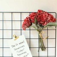 6-Kafalar Yapay Çiçek Paket Ipek Simülasyon Çiçek Dekor Ev Ofis Masa Merkezi Sahte Çiçek1