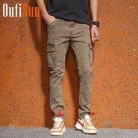 Oufisun Nuevo verano Pantalones de carga para hombres Casual transpirable Golencero Monos Pantalones Hombres Camuflaje Tactical Pantalones de carga Men1