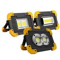 Tragbare Laternen LED-Scheinwerfer COB-Arbeitslicht wiederaufladbar im Freien für Jagd Camping Laterne 1PC1