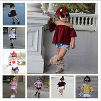 Fashion Kids Clothes One Shoulder Upper Outer Garment Hole C...