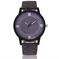Reloj Moda Luxo Quartz Homens Assista Couro Esporte Relógios Relogio Masculino Relógio de Alta Qualidade Relógio De Madeira Montre Homme1