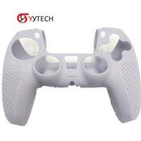 Syytech شحن مجاني جديد لعبة تحكم عدم الانزلاق واقية قذيفة ps5 سيليكون الجلد لبلاي ستيشن 5 ps5 سيليكون حالة الملحقات