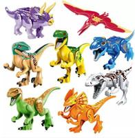 De blocos bebê puzzle brinquedos Dinossauros construindo tijolos bloco figuras educação dinossauros para crianças presente crianças brinquedo uxwki