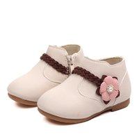 Xinfstreet Baby Girls Boots Зимние лодыжки Детские снежные ботинки для девочек Цветок малышей Детские ботинки Принцесса Размер 21-30 LJ201029