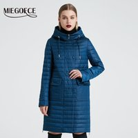 Hood ve Patch ile MIEGOFCE Yeni Koleksiyon Kadın İlkbahar Ceket Şık Coat Rüzgar Hendeğinden 201012 Çift Koruma Cepler