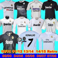 1998 99 00 Real Madrid retro 10 11 12 13 14 15 98 99 Real Madrid camiseta de fútbol retro real RONALDO ZIDANE Beckham 06 07 2002 RAUL Robinho