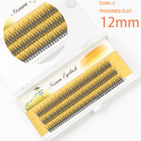 Greffant Fish Tail Flare Cils Messy Wispy Weave 8 mm / 10 mm / 12mm Court Moyen Long Noeud gratuit individuels Extensions Cils