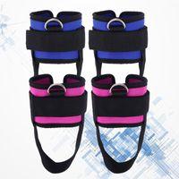 Ayak Bileği Desteği 4 ADET Spor Kayışı Yastıklı Wrap D-Ring Manşetleri Spor Egzersizleri için Kablo Makineleri Orive Bacak Ağırlıkları Egzersizleri (Rosy, Mavi