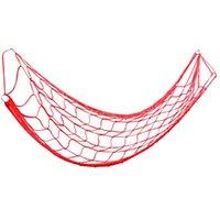 1 шт. Метская каната гамака нейлоновая спящая сеть грубая сеть чистая утолщенная сетка кровать для спорта на открытом воздухе походный отдых (красный)