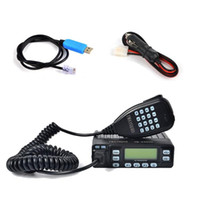 HYS Mini Car Mobile Radio 25W Dual Band VHF UHF 144 / 430MHz FM Transcepsiver 10km Aficionado Ham Radio