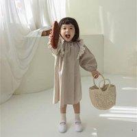Faceoyous Хлопковое белье девушки платье кружева детское платье с длинным рукавом платье принцессы осень детская одежда малыша наряда 201203