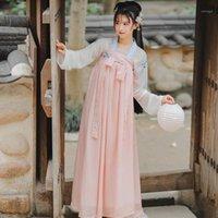 Nuove donne tradizionali cinese Hanfu Dress elegante costume da ballo folk elegante antico ricamo festival fata festival abbigliamento orientale DN60441
