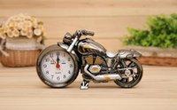 오토바이 쿼츠 알람 시계 멋진 오토바이 알람 시계 크리 에이 티브 데스크 테이블 시계 홈 생일 GIF SQCKEV BDENET