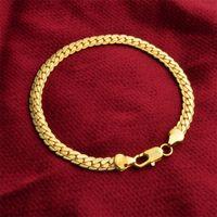 5 мм сияющий 18к настоящий позолоченный цепь ожерелье мужские женские хип-хоп ювелирные украшения подарки оптовые аксессуары 312 N2