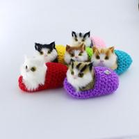 Enviar Boneca Boneca Cat Shoe Sounding apaziguamento de pelúcia Brinquedo Kid Birthday Cats Christmas Super sua namorada Simulação Kittens presentes Cscks