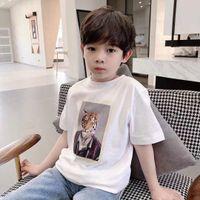 free girls Boys T Shirt For Summer Kids Shirts 2-14 Years Cartoon Print baby Cotton Toddler Tops