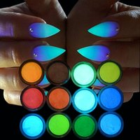 1set Neon Phosphor Pó Halloween presente Glitter Pó Poeira Luminous pigmento fluorescente prego Glitters Glow in the Dark