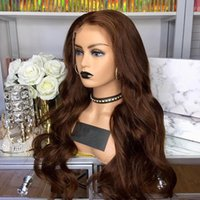 Cioccolato classico Body Wave 360 pizzo parrucche frontali con parrucche frontali con parrucche anteriori in pizzo per capelli per le donne nere
