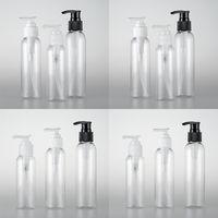 Schraubpumpe Flasche Licht und praktisch Bequemer Tragtransparente Zweifarbe Optionale Runde Schulterflasche Freies Verschiffen 0 970 A29