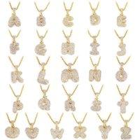 Nome delle lettere di bolla personalizzata Ciondolo Iced Out Gold Argento Rosegold Strass Hip Hop Collane collane gioielli regalo Drop shipping1