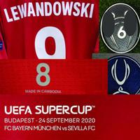 2020 Super Copa Final Lewandowski Jogador desgastado Jogador de jogador Muller Kimmich Martinez com Details Detalhes Futebol Patch Badge