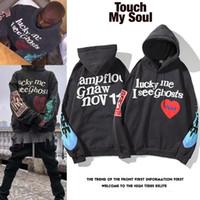 Kanye West Graffiti Pull à capuche en coton imprimé Hommes et femmes High Street Jacket Automne