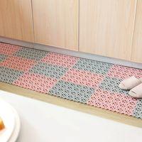 Cocina de plástico MAT antideslizante Sala de estar Balcón Baño Color Sólido Alfombras Pasillo Pasillo Baño Splicación Mat alfombra VT1863