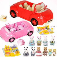 Miniature Forest Animal Family 1: 12 Dolls Picnic Car Action ...