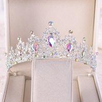 Korona ślubna Trzyczęściowa Atmosfera Super Fair Princess Wedding Birthday Crystal Naszyjnik Akcesoria