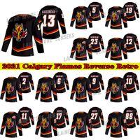 Calgary Flames Jersey 2021 Retro Retro 13 Johnny Gaudreau Jersey19 Matthew Tkachuk 23 Sean Monahan 5 Mark Giordano Hocekey Jerseys