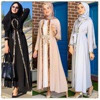 Roupas étnicas Kuclut Muslim Lace Maxi Vestido Abaya Bordado Pérola Longo Túnica Kimono Jubah Médio Oriente Ramadan Árabe Islâmico