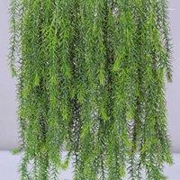Новая искусственная трава виноградная стена висит растение ротанга для домашнего сада декор вечеринка свадьба делиновая зелень фальшивый травяной завод11