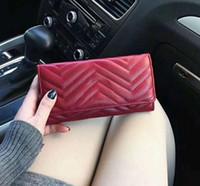 2021 الكلاسيكية إنثومي نمط محفظة المرأة حقيبة مبطن الجلود مستطيلة المحافظ مغطاة المحافظ حقائب جودة عالية