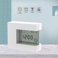 Elektronik Kare LCD Takvim Çalar Saat Dijital Masa İzle Beyaz Ev Termometre ile Beyaz Sayımı Timer Batteryasyon 201120