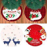 Saia da árvore de Natal 2020 máscara de boneco de neve decorações de Natal Papai Noel Elk Decorações de árvore de Natal DHL XD24130
