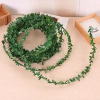 장식 꽃 화 환 7.5m 실크 garland 녹색 잎 철 와이어 인공 꽃 덩굴 등나무 결혼식 자동차 장식 홈 파티 DIY