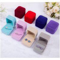 Mode Square Ring Retail Box Hochzeit Schmuck Ohrring Ring Kollektion Organizer Halter Aufbewahrungsfälle Geschenkverpackung 0BBQV